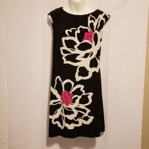 London Times Black/Pink Sleeveless Dress